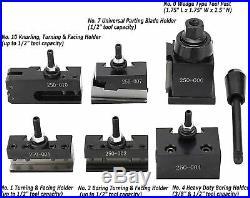 0XA Wedge Type Quick Change Tool Post Set For Mini Lathe up to 6-9 Inch Swing
