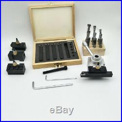 19 Pcs Quick Change Post Holder Kit Boring Bar Turning Tool Set CNC Lathe M0G9