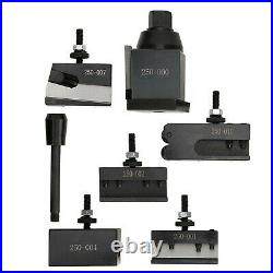250-000 Quick Change Tool Post Set Wedges Type Steel Material Mini Lathe Acce
