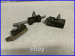 3pc Armstrong Quick Change Tool Post Holders 4A 4B 4E