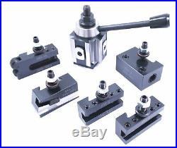 6 Piece Axa #100 Piston Type Quick Change Tool Post Set (3900-5910)