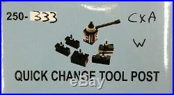 6 pc CXA QUICK CHANGE WEDGE TOOL POST SET 250-333 SERIES 13 TO 18 SWING TB022