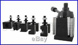 9 12'' Wedge Type Quick Change Tool Post 6 Pcs/Set, For 100 AXA, #0251-0111