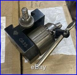 ALORIS CA-35 Quick Change Metal Lathe Tool Post 3/4 Jacobs Drill Chuck Holder