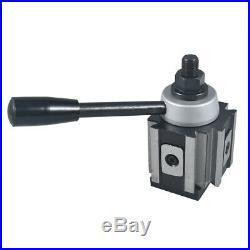 AXA Piston Quick Change Tool Post and Tool Holder for Lathe 6-12 250-100 Set