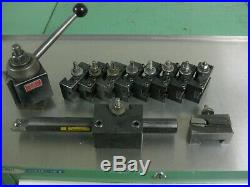 Aloris 13-18 Cxa Quick Change Lathe Tool Post 10 Holders & Kennametal Boring