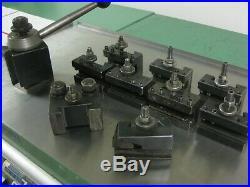Aloris 13-18 Cxa Quick Change Lathe Tool Post 9 Holders Cut Off & Boring Set