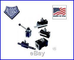 Aloris AXA Quick Change Lathe Tool Post 5pc Holder Set #1-BS
