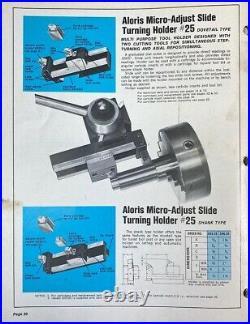 Aloris BXA 25 Micro Adjust Sliding Quick Change Tool Post Holder & ADS 5-3