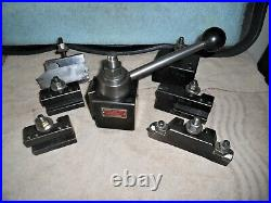 Aloris BX Quick Change Tool Post (BXA Size), with 6 piece set of Holders