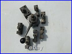 Aloris CA Quick Change 14-20 Metal Lathe Tool Post 8 Piece Set USA