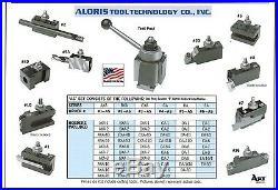 Aloris CA Quick Change Lathe Tool Post +10 Holder Set #4-AS