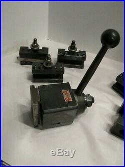 Aloris CA Tool Post Set with (6) holders USA Quick Change Tool Post Set