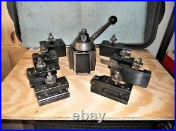 Aloris CXA Quick Change Tool Post, Wedge Type with 8 piece set of Holders