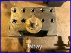 Aloris CXA Wedge Type Quick Change Tool Post with (7) Tool Holders 13-18 Swing