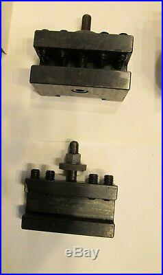 Aloris Ca Quick Change Tool Post Set USA 5 Piece Set With Aloris Ca-6