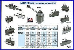 Aloris DA Quick Change Lathe Tool Post +10 Holder Set #5-AS