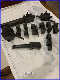 Aloris quick change CA tool post and 10 Tool Holders
