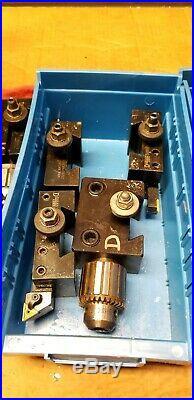 DORIAN Quick-Change Tool Post set huge lot (aloris) PLUS 15 holders PLUS! USA