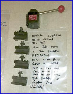 Emco Maximat Super 11 Lathe Dorian AXA Quick Change Toolpost No. SD25AXA E29S