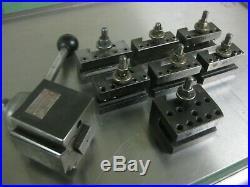 Genuine Aloris 12-15 Bxa Quick Change Lathe Tool Post 7 Holder Set