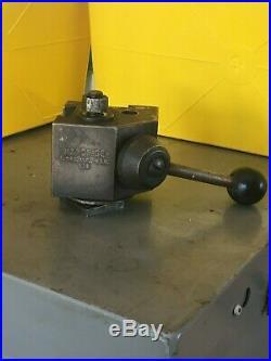 Hardinge Lathe Model L18 Quick Change Toolpost, used good condition