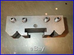 Lathe Boring Bar Holder Tool Post Block 5/8 Round Bore, 1/2 High Clamp Block