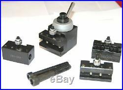 Mini Quick Change Lathe Tool Post And Holder Set Piston Type For Mini Lathe