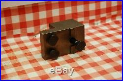Myford 7 lathe front & rear quick change tool post 13 holder with tools & tips