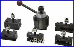 Phase 2 II Quick Change Tool Post Set 5 Holders Wedge Style 251-111 Aloris AXA