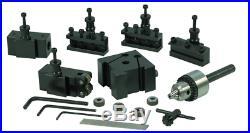 Quick Change Tool Post Set for Mini Lathe Dovetail Locking System Knurling Turn