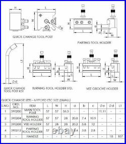 Soba 4pc Quick Change Toolpost to Suit Myford ML7 Lathe 390201