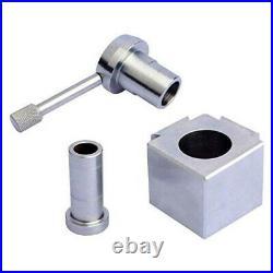 Steel Mini Lathe Post Holder Kit Change Tool Boring Blade Turning Facing H P3M4