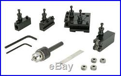Steelex Mini Lathe Quick Change Tool Post Set 4 Tool Holders Knurl Chuck D4390