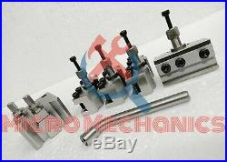 T37 Quick Change Tool Post With 2 Standard, 1 Vee, 1 Parting Holder & 5 Blades