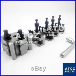 T37 Quick Change Tool post 10mm Stud Bore + 4 Holders Myford Lathe PREMIUM ATOZ
