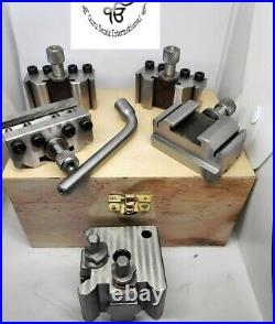 T37 Quick-Change Tool post Myford ML7 Set of 5 pc With Wooden box