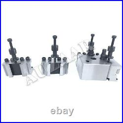 T-37 Quick Change Tool Post Lathe 5 Pieces Set Wooden Box Turning Facing Boring