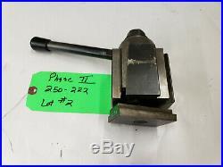 Used Phase II 250-222 10-15 Swing Quick Wedge Type Change Tool Post. Lot#2